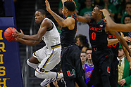 NCAA Basketball -  Notre Dame Fighting Irish vs Miami Hurricanes - South Bend, In