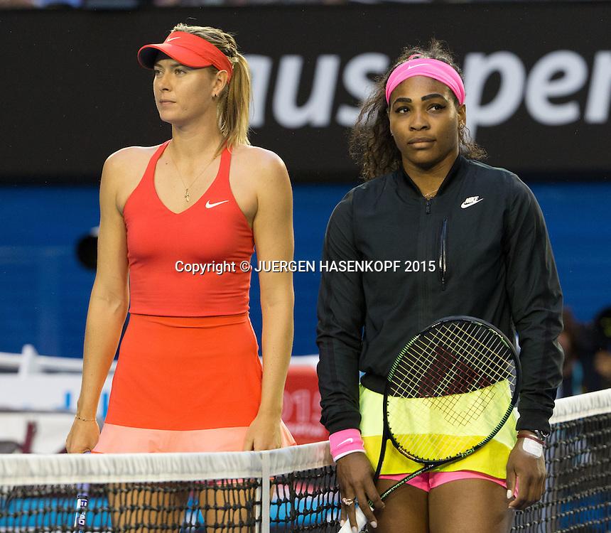 Serena Williams (USA), Maria Sharapova (RUS)<br /> Tennis - Australian Open 2015 - Grand Slam ATP / WTA -  Melbourne Olympic Park - Melbourne - Victoria - Australia  - 31 January 2015.