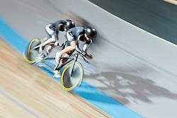 FOY Emma Pilot:  FAIRWEATHER Laura, NZL, Tandem 4km Pursuit Qualifiers , 2015 UCI Para-Cycling Track World Championships, Apeldoorn, Netherlands