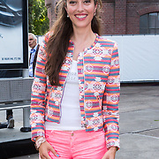 NLD/Amsterdam/20130714 - AFW 2013 Zomer, modeshow Tony Cohen inloop, Nadia Palesa Poeschmann