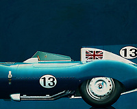 Like its predecessor Jaguar C-Type, the Jaguar D-Type is a factory-built racing car. The Jaguar D-Type had a straight-XK engine design. At the beginning it was a 3.4 engine, later also a 3.8, together with the C-Type a revolutionary car in terms of aerodynamics and monocoque chassis. The D-Type was produced purely for motorsport, but after Jaguar stopped building the car for motorsport, the company offered the unfinished chassis as the public-road version of the JaguarXKSS. These cars were given a number of modifications such as a passenger seat, a second door, a full windscreen and a roof. But on 12 February 1957 a fire broke out on Browns Lane plant. The fire destroyed nine of 25 cars that were already finished or almost finished. –<br />