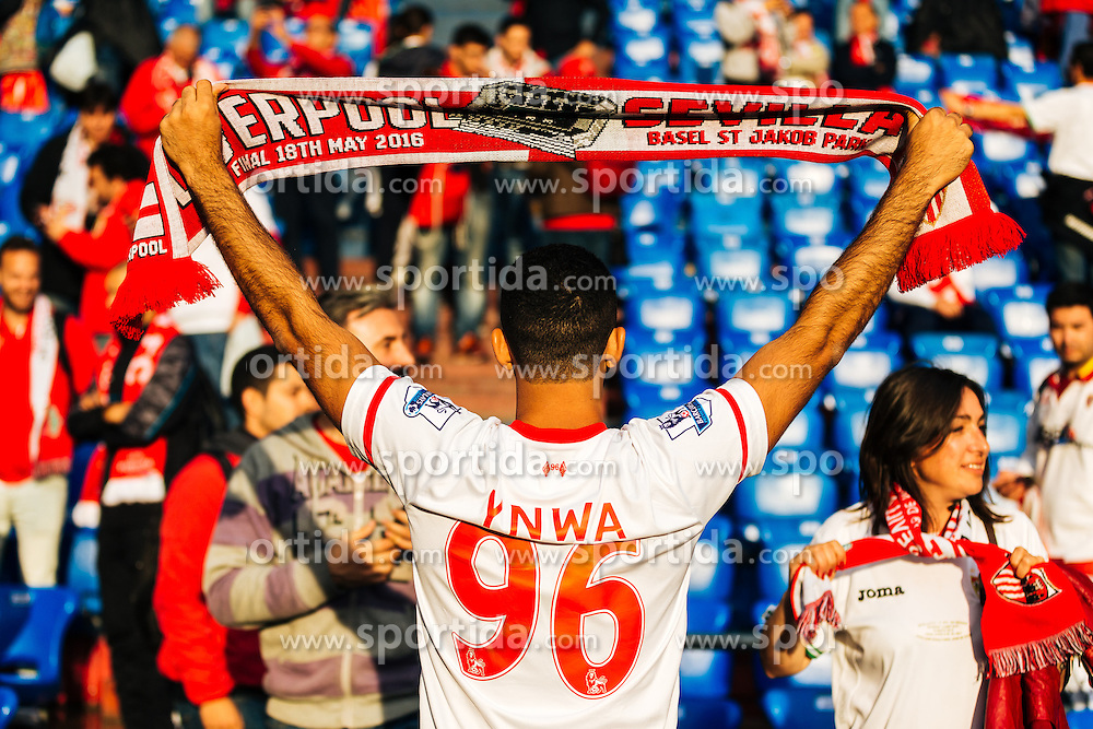 18.05.2016, St. Jakob Park, Basel, SUI, UEFA EL, FC Liverpool vs Sevilla FC, Finale, im Bild Liverpool Fan, Justice for the 96 // Liverpool Fan Justice for the 96 during the Final Match of the UEFA Europaleague between FC Liverpool and Sevilla FC at the St. Jakob Park in Basel, Switzerland on 2016/05/18. EXPA Pictures © 2016, PhotoCredit: EXPA/ JFK