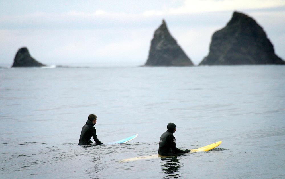 Coldwater surfers, Surfing the Washington coast near La Push.