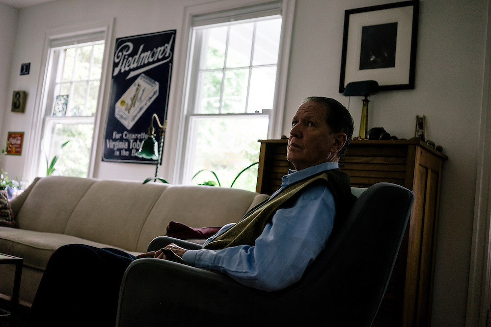 WASHINGTON, DC - MAY 12 William Christenberry rests at home in NW Washington, D.C. on May 12, 2015. (Photo by Greg Kahn/GRAIN for The Washington Post)