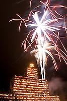 Fireworks celebarate new World's Record for Lit Jack o Lanterns at Keene Pumpkin Festival