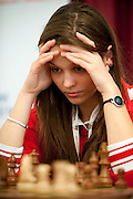 Klaudia Wisniowska from Poland during European Team Chess Championships 2013 at Novotel Hotel in Warsaw on November 10, 2013.<br /> <br /> Poland, Warsaw, November 10, 2013<br /> <br /> Picture also available in RAW (NEF) or TIFF format on special request.<br /> <br /> For editorial use only. Any commercial or promotional use requires permission.<br /> <br /> Mandatory credit:<br /> Photo by &copy; Adam Nurkiewicz / Mediasport