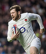 Twickenham, United Kingdom. Elliot DALY Running in for a second half try, during the  6 Nations International Rugby Match, England vs Italy at the RFU Stadium, Twickenham, England, <br /> <br /> Sunday  26/02/2017<br /> <br /> [Mandatory Credit; Peter Spurrier/Intersport-images]