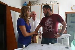 IL FIGLIO CON MAZZINI E LA FIDANZATA<br /> PIETRO CAROLLO MORTO VIRUS WEST NILE