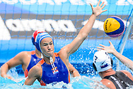 24-07-2017: Waterpolo: Nieuw Zeeland v Nederland: Boedapest<br /> <br /> (L-R) Nomi Stomphorst of team Netherlands during the waterpolomatch between women New Zealand and Netherlands at the 17th FINA World Championships 2017 in Budapest, Hungary<br /> <br /> Photo / Foto: Gertjan Kooij