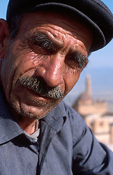 TURKEY DOGUBEYAZIT JUL02 - Portrait of an elderly Kurdish farmer living in the mountains above Dogybeyazit. Up until a few years ago a heavy Turkish garrison was involved in nightly battles with the PKK, a time this man remembers vividly...jre/Photo by Jiri Rezac..© Jiri Rezac 2002..Contact: +44 (0) 7050 110 417.Mobile:  +44 (0) 7801 337 683.Office:  +44 (0) 20 8968 9635..Email:   jiri@jirirezac.com.Web:     www.jirirezac.com