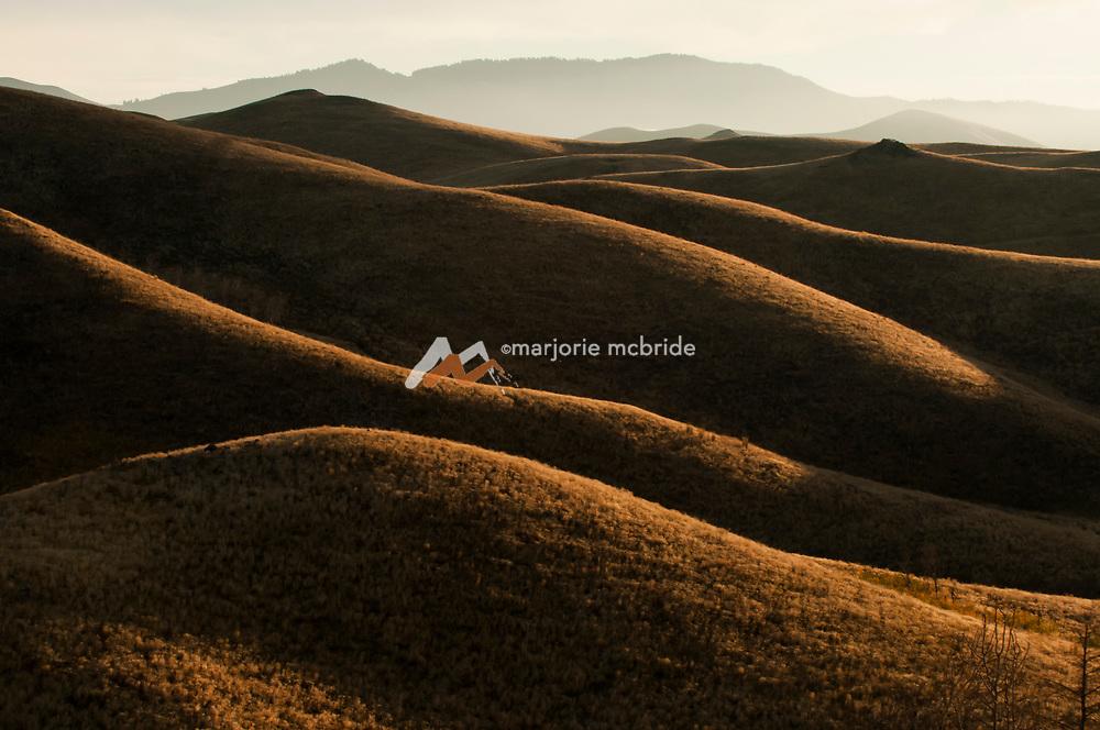 Mountain scenic during autumn sunrise Fairfield, Idaho.