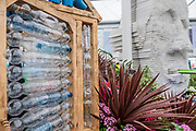 Floellas Future - Birmingham Council and Floella Benjamin create a display dedicated to education and environmental sustainabilty with particular emphasis on plastic waste - Press preview day at The RHS Chelsea Flower Show.