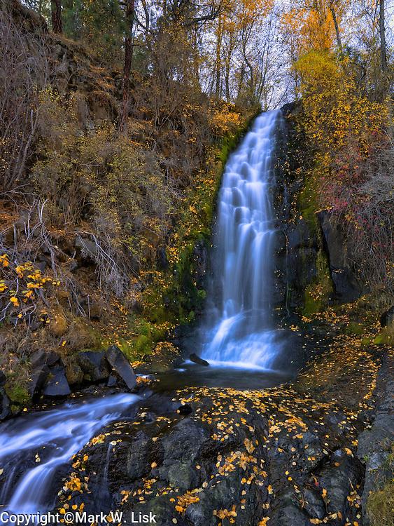 Pinehurst Falls drops over a granite ledge near it confluence with the Little Salmon River.