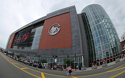 June 9, 2012; Newark, NJ, USA;  The Prudential Center before Game 5 of the 2012 Stanley Cup Finals.