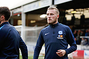 Peterborough Utd midfielder George Cooper (19) warming up before the EFL Sky Bet League 1 match between Peterborough United and Scunthorpe United at London Road, Peterborough, England on 1 January 2019.