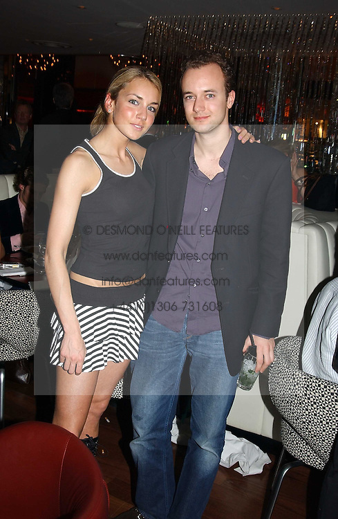 The MARQUESS OF BRISTOL and his sister LADY ISABELLA HERVEY at a night of Cuban Cocktails and Cabaret hosted by Edward Taylor and Charles Beamish at Floridita, 100 Wardour Street, London W1 on 14th April 2005.<br /><br />NON EXCLUSIVE - WORLD RIGHTS