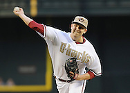 PHOENIX, AZ - MAY 27:  Pitcher Trevor Cahill #35 of the Arizona Diamondbacks against the Texas Rangers in the second inning of an interleague game at Chase Field on May 27, 2013 in Phoenix, Arizona.  (Photo by Jennifer Stewart/Getty Images) *** Local Caption *** Trevor Cahill