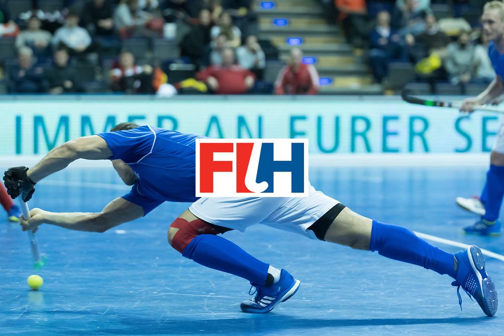 Hockey, Seizoen 2017-2018, 09-02-2018, Berlijn,  Max-Schmelling Halle, WK Zaalhockey 2018 MEN, Iran - Czech Republic 2-2 Iran Wins after shoutouts, Tomas Prochazka.