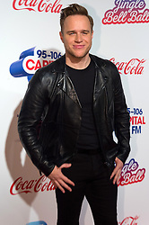 © Licensed to London News Pictures. 03/12/2016. OLLY MURS attends Capital's Jingle Bell Ball with Coca-Cola at London's O2 Arena London, UK. Photo credit: Ray Tang/LNP