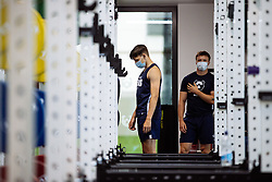 Tom Wilstead in action in the gym as Bristol Bears start to use their new almost completed Training centre - Rogan/JMP - 08/07/2020 - RUGBY UNION - Beggar Bush Lane - Bristol, England.