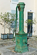 Old village water pump at St Martin de Re, Ile de Re, France