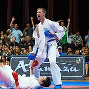 Final matches during the 2014 USA Karate National Championships and Team Trials at Reno, NV, USA, on July 14, 2014.  Photo: Shelley Lipton