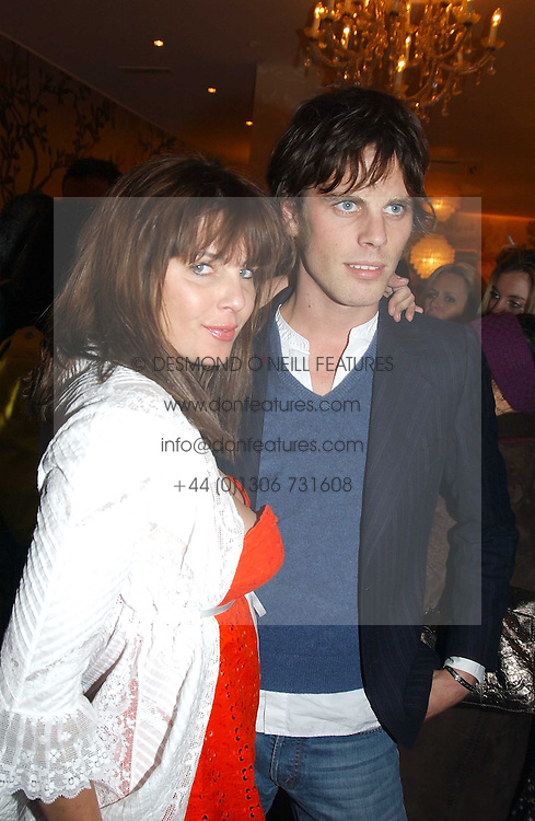 SADIE FROST and JACKSON SCOTT at a party to celebrate the opeing of the new Paul &amp; Joe Boutique at 134 Sloane Street, London SW1 on 14th April 2005.<br /><br />NON EXCLUSIVE - WORLD RIGHTS
