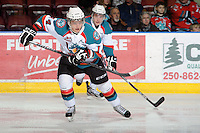 KELOWNA, CANADA, FEBRUARY 15: Cody Chikie #14 of the Kelowna Rockets skates on the ice against the Edmonton OIl Kings at the Kelowna Rockets on February 15, 2012 at Prospera Place in Kelowna, British Columbia, Canada (Photo by Marissa Baecker/Shoot the Breeze) *** Local Caption ***