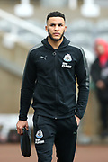 Jamaal Lascelles (#6) of Newcastle United arrives ahead of the Premier League match between Newcastle United and Southampton at St. James's Park, Newcastle, England on 10 March 2018. Picture by Craig Doyle.