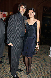 Footballer ROBERT PIRES and JESSICA LE MARIE at a dinner hosted by footballer Patrick Vieira and the Diambars UK Charital Trust at The Landmark Hotel, 222 Marylebone Road, London NW1 on 3rd February 2005.<br /><br />NON EXCLUSIVE - WORLD RIGHTS