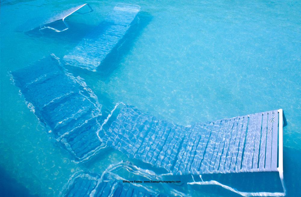 Hurricane Opal, hotel swimming pool, Destin, Florida