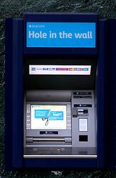 UK ENGLAND LONDON 13MAR07 - Barclays Bank cashpoint in the Sloane Square area, a wealthy part of west London.. . jre/Photo by Jiri Rezac. . © Jiri Rezac 2007. . Contact: +44 (0) 7050 110 417. Mobile:  +44 (0) 7801 337 683. Office:  +44 (0) 20 8968 9635. . Email:   jiri@jirirezac.com. Web:    www.jirirezac.com. . © All images Jiri Rezac 2007 - All rights reserved.