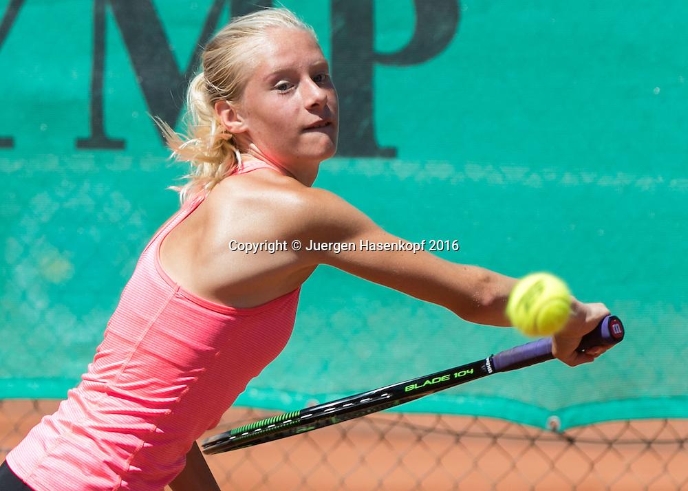 Tennis Europe-Bavarian Junior Open, Jana Vanik (GER)GS14<br /> <br /> Tennis - Bavarian Junior Open 2016 - Tennis Europe Junior Tour -  SC Eching - Eching - Bayern - Germany  - 8 August 2016. <br /> &copy; Juergen Hasenkopf