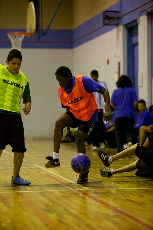 Students at Louis-Joseph Papineau take part in a Youth Fusion - Fusion jeunesse Soccer tournament on May 20th, 2010 in Montreal, Canada