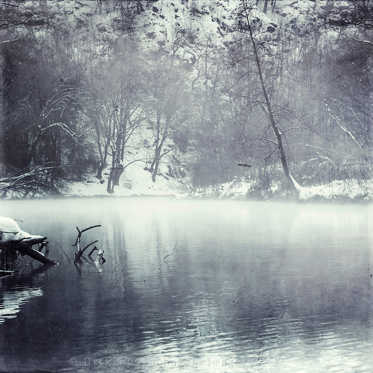 Morning fog on a nearby river in Winter - <br /> Wuppertal, Germany<br /> Licenses: http://www.westend61.de/koala2/imgsearch.html?number=DWI000420&amp;mode=pv