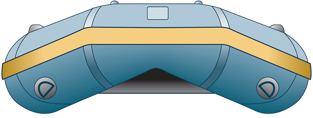 A vector illustration of a Rigid-hull inflatable boat