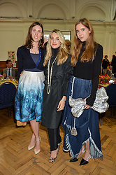 Left to right, HERMIONE RUSSELL, MANUELA CAMPISI and STEPHANIE STOLA at a lunch in aid of the charity African Solutions to African Problems (ASAP) held at the Royal Horticultural Hall, Vincent Square, London on 19th May 2016.