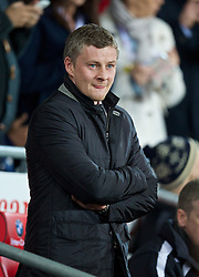CARDIFF, WALES - Tuesday, February 11, 2014: Cardiff City's manager Ole Gunnar Solskjær before the Premiership match against Aston Villa at the Cardiff City Stadium. (Pic by David Rawcliffe/Propaganda)