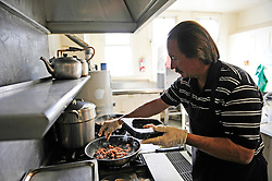 Glenn Smith is the principal cook for many of the meals provided to the needy at the First Methodist Church in Salinas. The program provides meals, counseling resources and occasional shelter to many who need assistance.