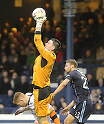Ross Laidlaw clutches safely with Martin Boyle challenging - Raith Rovers v Dundee,  SPFL Championship at Starks Park<br /> <br />  - &copy; David Young - www.davidyoungphoto.co.uk - email: davidyoungphoto@gmail.com