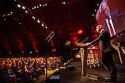 Diederik Samsom spreekt tijdens het congres. In Utrecht wordt het PvdA congres gehouden. Tijdens het congres wordt de aftrap gegeven voor de verkiezing van de Provinciale Staten en de waterschappen. Ook wordt afscheid genomen van Mariette Hamer an Frans Timmermans.<br /> <br /> The Labour Party conference is held in Utrecht. During the conference, the kickoff is given for the election of provincial and district water boards.