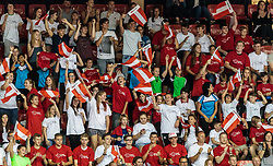 09.06.2017, TipsArena, Linz, AUT, FIVB, World League, Österreich vs Deutschland, Division III, Gruppe C, Herren, im Bild Österreichische Fans // Österreichische Fans during the men's FIVB, Volleyball World League, Division III, Group C match between Austria and Germany at the TipsArena in Linz, Austria on 2017/06/09. EXPA Pictures © 2017, PhotoCredit: EXPA/ JFK