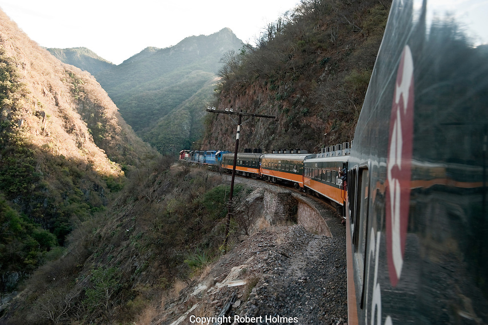 Chepe railroad through the Copper Canyon, Mexico