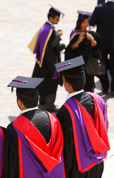 File photo dated 19/07/10 of students celebrating their graduation. Almost three-quarters of university students want more information on how their tuition fees are spent, research suggests.