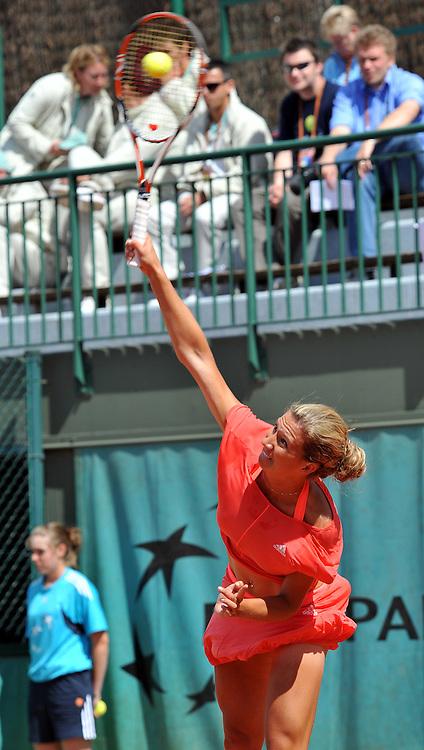 French Open 2008 28/05/08 D4.Marta Domachowska (POL) in 1st round match .Photo Anne Parker Fotosports International.