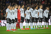 Football - 2017 / 2018 International Friendly - England vs. Germany<br /> <br /> Germany team during the minutes silence for Remberance day, at Wembley Stadium.<br /> <br /> COLORSPORT/ANDREW COWIE