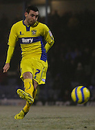 Picture by David Horn/Focus Images Ltd +44 7545 970036.11/12/2012.David Worrall of Bury takes a penalty during the The FA Cup match at Roots Hall, Southend.