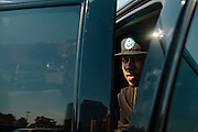 Rap producer Mike WiLL Made It sits in an Escalade in the parking lot of Cumberland Mall in Atlanta, Georgia, October 4, 2012.