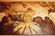 Painting of Father Miguel Hidalgo y Costilla?s execution at the Government Palace.