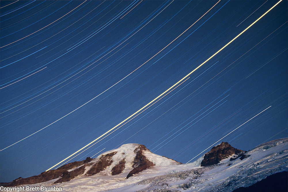 Mt. Baker, Star Trails, Coleman Glacier